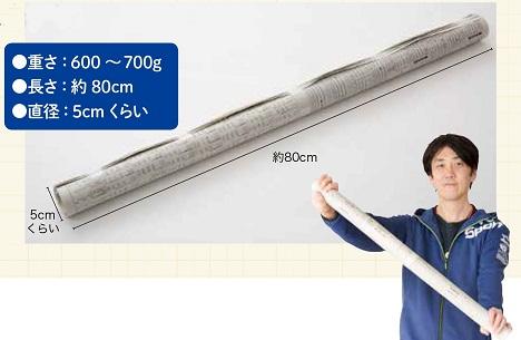 新聞棒のサイズ