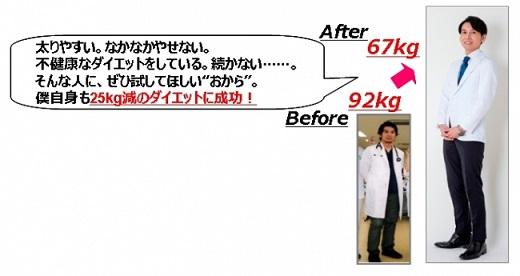 工藤先生も25キロ減のダイエットに成功!