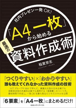 稲葉崇志さん著『社内プレゼン一発OK!「A4一枚」から始める最速の資料作成術』(CCCメディアハウス)