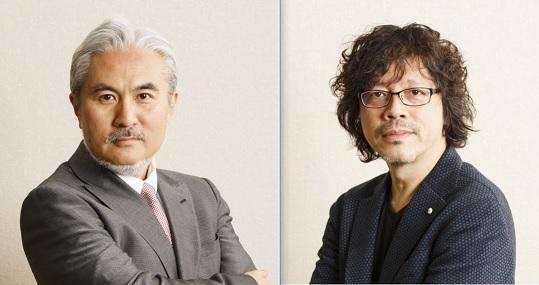 (左)岩代太郎氏 (右)浦沢直樹氏