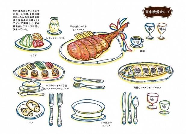 宮中晩餐会にて/本書より