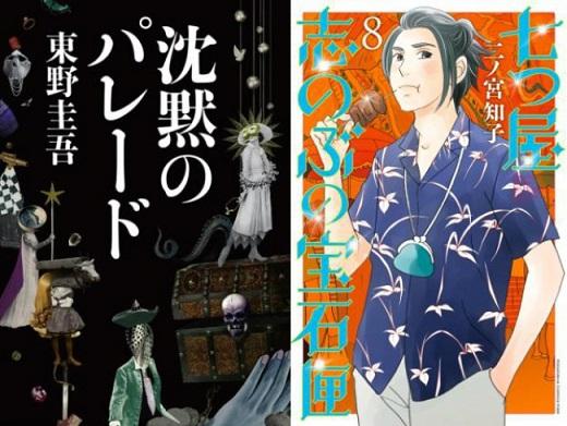 「honto」週間ストア別ランキング発表(2018年10月14日~10月20日) 東野圭吾さん『沈黙のパレード』が総合2位に