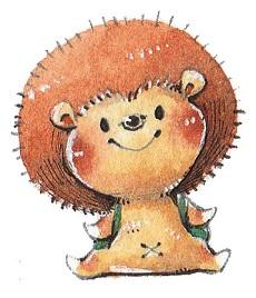 マスコットキャラクターはハリネズミの「ハリ丸」です。