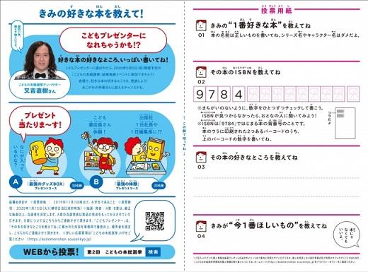 「第2回こどもの本総選挙」書店向け投票用紙(裏)