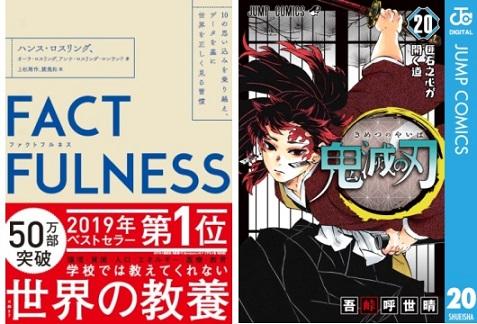 「honto」週間ストア別ランキング発表(2020年5月17日~5月23日) 『FACTFULNESS』が総合1位