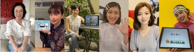 左から:寺島しのぶさん(女優)、 長谷川京子さん(女優)、鈴木保奈美さん(女優)、山田優さん(モデル)、池田エライザさん(女優)、仲里依紗さん(女優)
