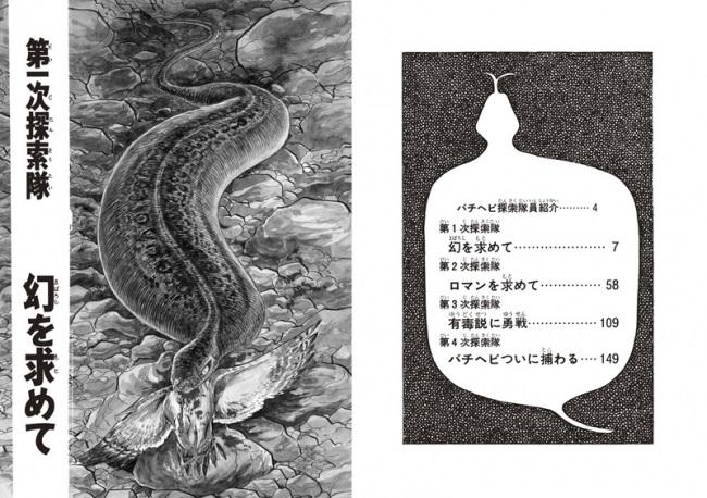 (『幻の怪蛇 バチヘビ』目次)