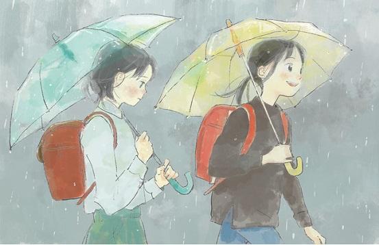 「風と雨」…酒井以さん 画