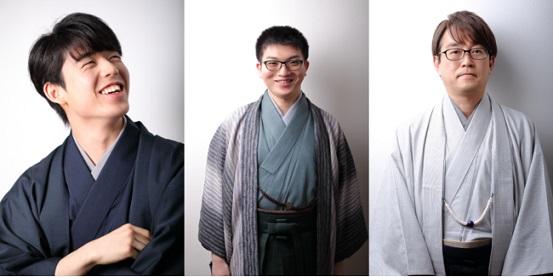 (左から)藤井聡太王位・棋聖、永瀬拓矢王座、羽生善治九段