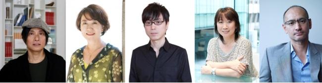 左から:辻仁成さん、中園ミホさん、中村航さん、村山由佳さん、吉田修一さん
