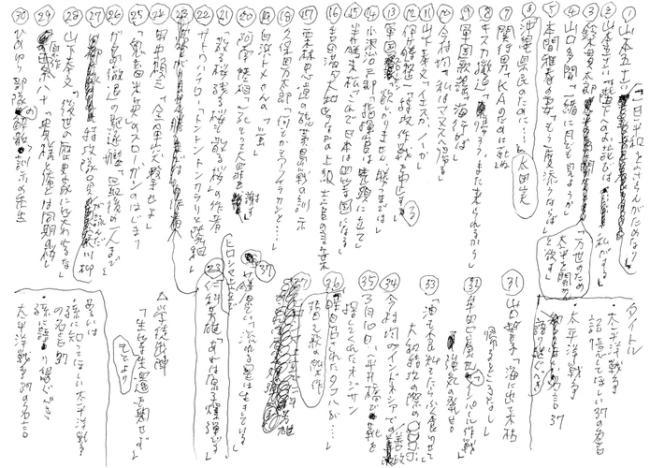 生前の半藤一利さんが入院先で書いた企画案