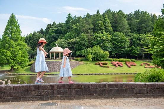 会場の七井戸公園はファミリーに人気!