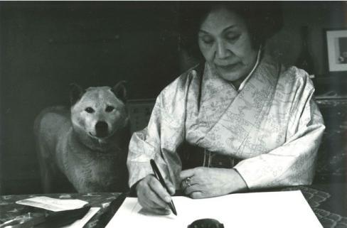 いつも一緒だった大原富枝さんと愛犬三郎
