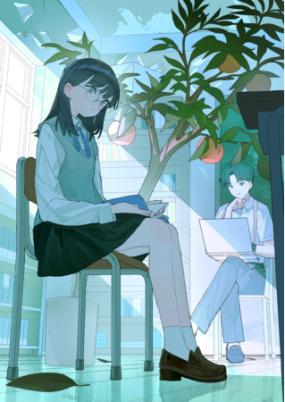 """カクヨム甲子園2021のメインビジュアルは、未曾有の事態に""""葛藤""""しながらも小説のアイデアを着想し、創作に取り組もうとする学生をイメージしています。"""