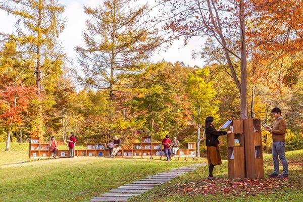 「紅葉図書館」が軽井沢星野エリアにて開催